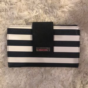 Kenneth Cole Black, White, and Pink wallet